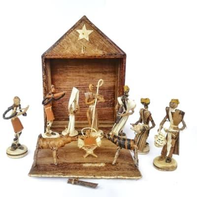 African Christmas Nativity Scene image
