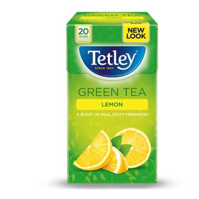 Green Tea Lemon   a Burst of Real Zesty Freshness 10 Tea Bags image