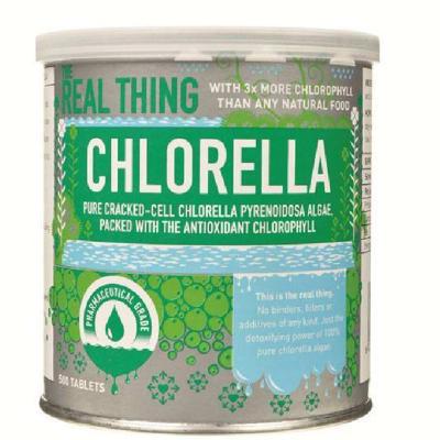 Chlorella  Pure Cracked-Cell Chlorella Pyrenoidosa Alge Antioxidant Chlorophyll  500 Tablets  image