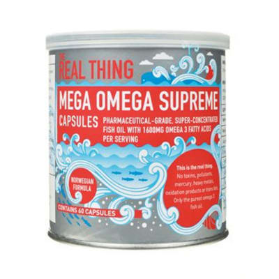 Mega Omega Supreme  Concentrated Fish Oil Capsules  image
