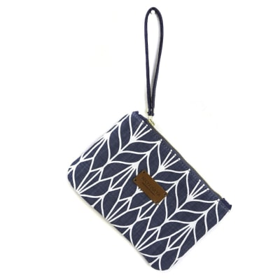 Two tones cotton fabric pouch image