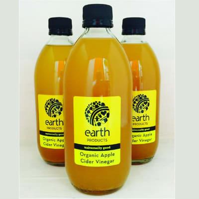Earth Organic Apple Cider Vinegar  More than a Salad Dressing 500ml image