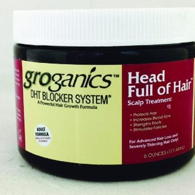 Grogonics Head Full of Hair Dht Blocker System Increases Blood Flow image