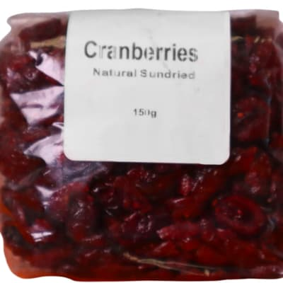 Cranberries Natural Sundried  150g  image