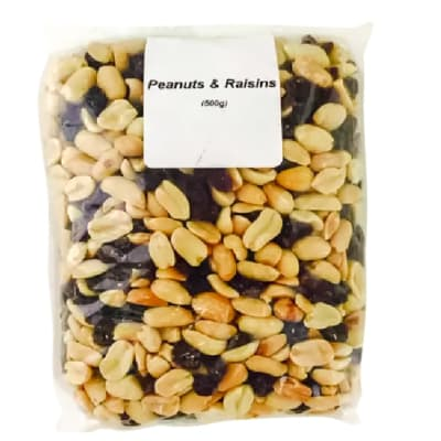 Peanuts & Raisins Mix  Energy, Fibre, Carbohydrates, Protein & Fats 500g  image
