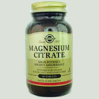 Magnesium Citrate High Potency, Highly Absorbable 60 Tablets image