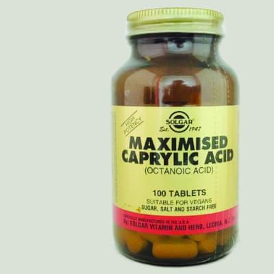 Maximised Caprylic Acid Octanoic Acid  100 Tablets image