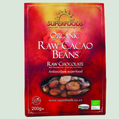 Superfoods  Raw Cacao Beans Raw Chocolate 200g image