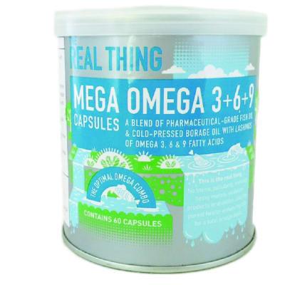 Mega Omega 3+6+9 Pharmaceutical-Grade Fish & Cold-Pressed Borage Oils 60 Capsules image