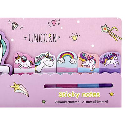 Jenam  Unicorn Love Sticky Notes image