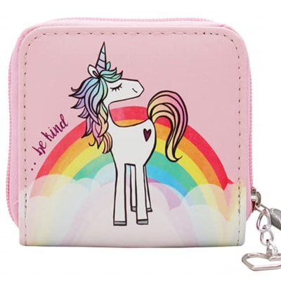 Unicorn Love Purse Single Zip Wallet image