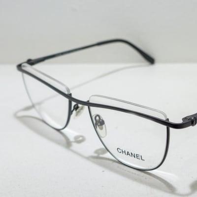 Chanel Semi-Rimless Eyeglass Frames - Black  image