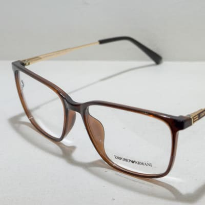 Emporio Armani Eye glasses Frame - Brown and gold image