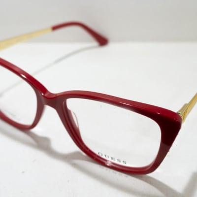 Guess Full Rim Eyeglass Frames  - Maroon & Gold image