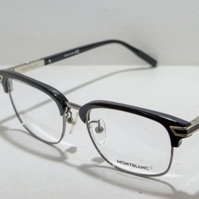 Montblanc Eye glasses Frame - Black with silver image