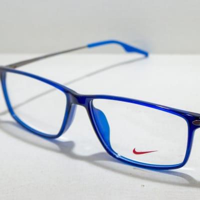 Nike Full Rim Eyeglass Frames - Blue & Grey image