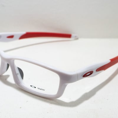 Oakley Full Rim Eyeglass Frame - White & Red  image