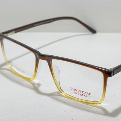 Vision Care  Eye glasses Frame - Black and clear image