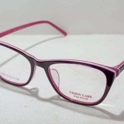 Vision Care  Eye glasses Frame - Grey and pink image