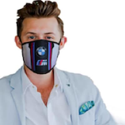 Washable face mask 2 layer with sublimation image