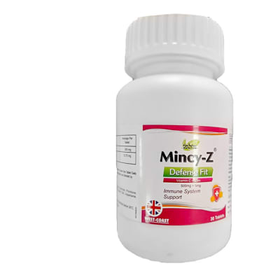 Mincy-Z Defence  Vitamin C + Zinc Dietary Supplement  30 Tablets image