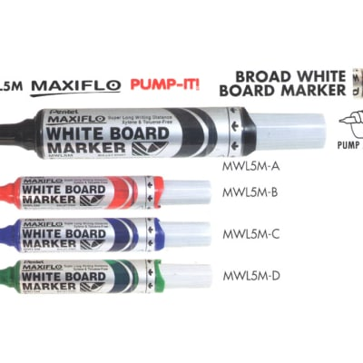 White Board Markers - MWL5M Maxiflow Pump-It Broad White Board Marker - Bullet Point image