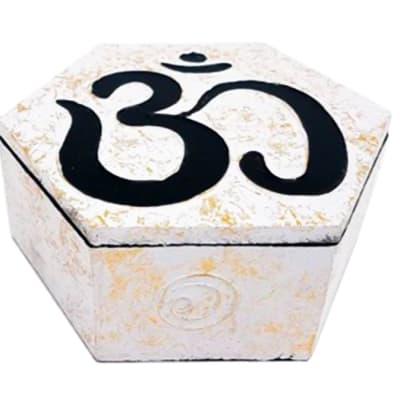 Storage Box White Hexagonal  Decorative Box image