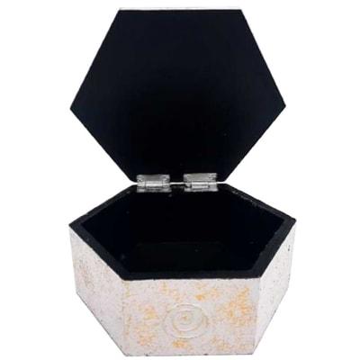 White Hexagonal Decorative Box image