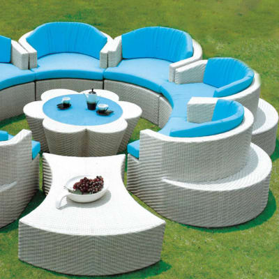 White Outdoor Furniture Sofa and Table set - Model HD-A118 image