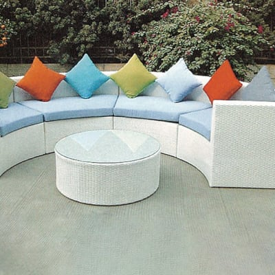 White Outdoor Furniture Sofa and Table set - Model HD-A123 image