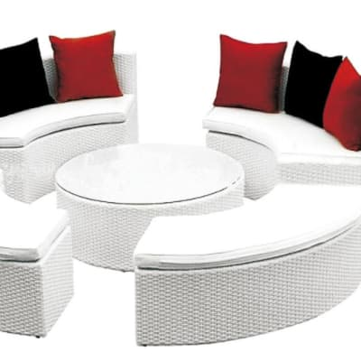 White Outdoor Furniture Sofa and Table set - Model HD-A126 image