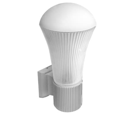 White Top Cone Wall Light image