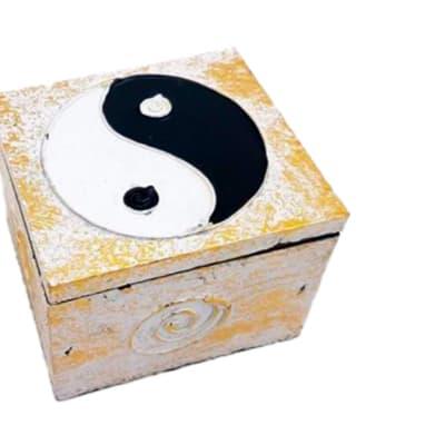 White Ying & Yang Decorative Storage Box image