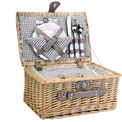 Wicker Picnic Basket Set for Two image