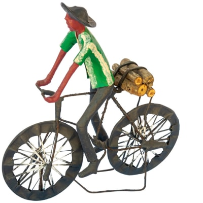 Toy Bicycle  Man Carrying Firewood Sculpture image