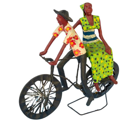 Toy Bicycles Traditional Man and Woman  Bicycle Sculpture image