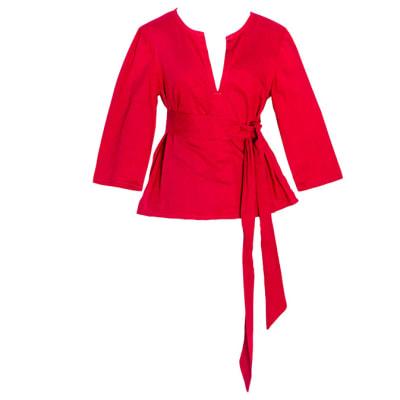 Women's Caftan  Chitenge Top Pink  with Matching Strap image