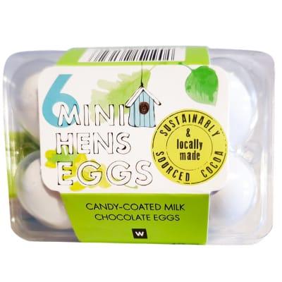 6 Mini Hen Eggs Candy Coated Milk Chocolate image