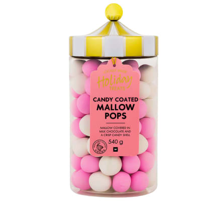 Woolworths Candy Coated Mallow Pops - Jar  image