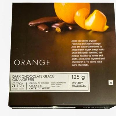 Woolworths Dark Chocolate Glace Orange Peel image