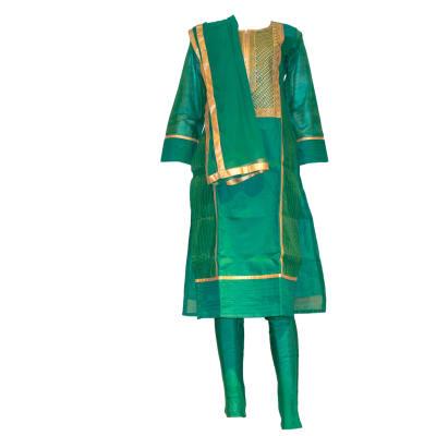 Punjabi Suit green and gold image