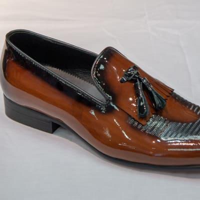 Glass Shoe Nobby Cavalli -Men's light brown tasselled  image