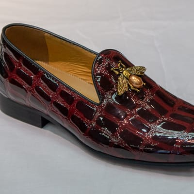 Glass Shoe Nobby Cavalli -Men's maroon croc pattern image