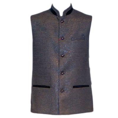 Modi Waist Coat Shiny Blue image