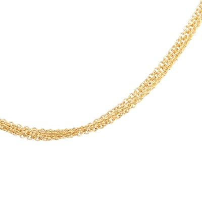 Yellow Gold  Strand Chain  Necklace  image