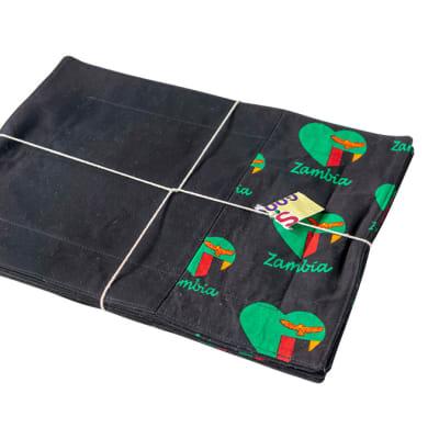 Mats & Pads Zambian Flag  Black Table Placemats  image