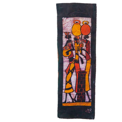 Batik  Wall Hanging Three Women with Pots image