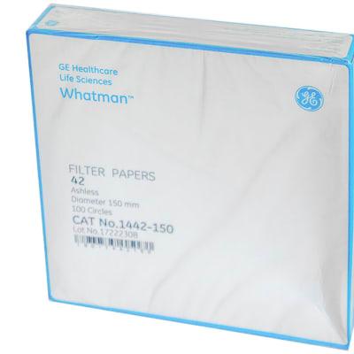 Whatman® Filter Papers  42  Ashles  Diameter 150mm 100 Circles   Cat No. 1442-150 image
