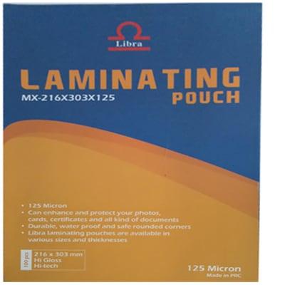 Laminating Pouches A4 125MICRON (216X303) image