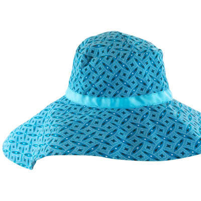 Bucket Hat Ladies Chitenge Blue image